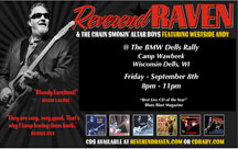Reverend Raven playing on Friday, 8-11